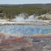 Grand Prismatic Spring, Midway Geyser Poster