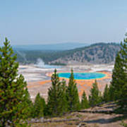 Grand Prismatic Spring Panorama Poster