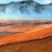 Grand Prismatic Spring, Yellowstone Poster