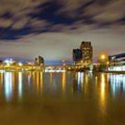 Grand Rapids At Night Poster