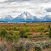 Grand Teton Mountains Panorama Poster
