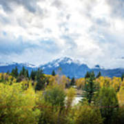 Grand Tetons In The Fall Poster