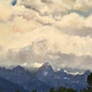 Grand Tetons  Sky Poster by Suzette Kallen