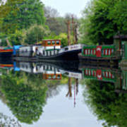 Grand Union Canal Cowley West London Poster