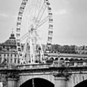 Grande Roue In Paris - Black And White Poster