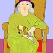 Grandma And Puppy Poster