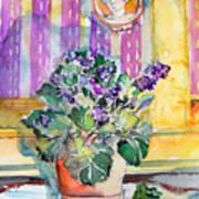 Grandmas' Violets Poster