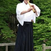 Grandmaster Playing Shakuhachi Poster