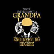 Grandpa Engineer Poster