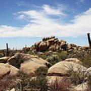 Granite Boulders And Saguaros  Poster
