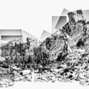 Granite Steps Eagle Lake Sequoia National Park California 2012 Poster