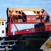 Granite Street Drawbridge At Neponset River Poster