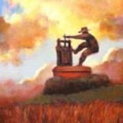 Grape Crusher Sunset Cloud Napa Valley Poster