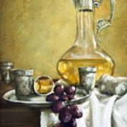 Grapes And Cristals Poster