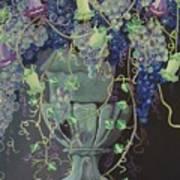 Grapes Vase II Poster