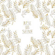 Graphic Art Rise And Shine - Gold And Marble Poster
