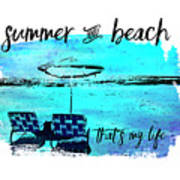 Graphic Art Summer And Beach Poster