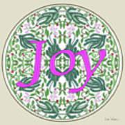 Graphic Designs Button Joy Poster