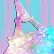 Graphic Style Paris Eiffel Tower Pink Poster by Melanie Viola