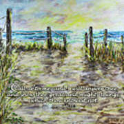 Grassy Beach Post Morning 2 Jeremiah 33 Poster
