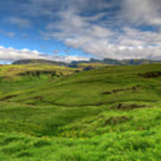 Grassy Meadow South Iceland Poster