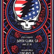 Grateful Dead Santa Clara Ca Poster