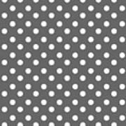 Gray And White Polka Dots Poster