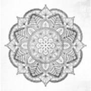 Gray Mandala Poster