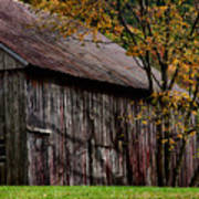 Gray Weathered Barns Number Three Poster