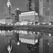 Grayscale Columbus Poster