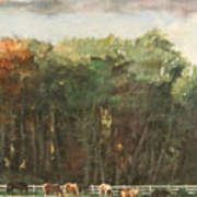 Grazing Horses Poster