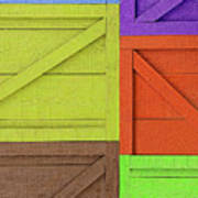 Great Crates - Multicolored Packing Boxes Stacked Poster