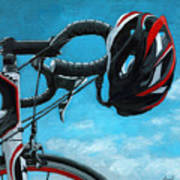 Great Day - Bicycle Oil Painting Poster by Linda Apple