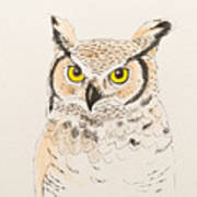 Great Horned Owl Poster