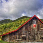 Great Smoky Mountains Barn Poster