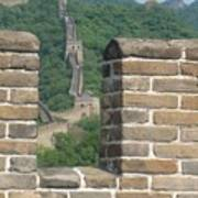 Great Wall From A Tower Poster