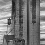 Great Western Sugar Mill Longmont Colorado Bw Poster