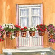 Grecian Balcony Poster