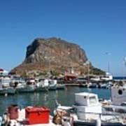 Greece Island Harbor Poster