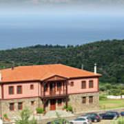 Greece Summer Vacation Landscape Poster