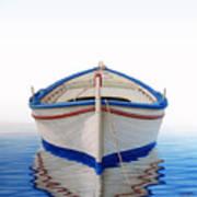 Greek Boat Poster by Horacio Cardozo