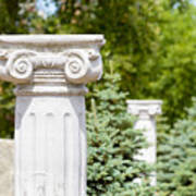 Greek Ionic Columns Poster
