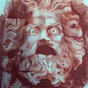 Greek Mask Poster