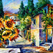 Greek Noon - Palette Knife Oil Painting On Canvas By Leonid Afremov Poster