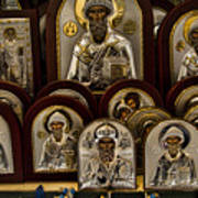 Greek Orthodox Church Icons Poster by David Smith