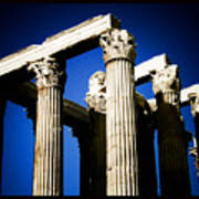 Greek Pillars Poster