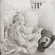 Greek Pottery Poster