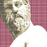 Greek Statue #1 - Dark Red Poster
