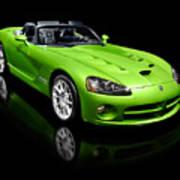 Green 2008 Dodge Viper Srt10 Roadster Poster