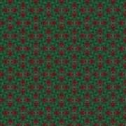 Green And Brown Chunky Cross Mirror Pattern Poster